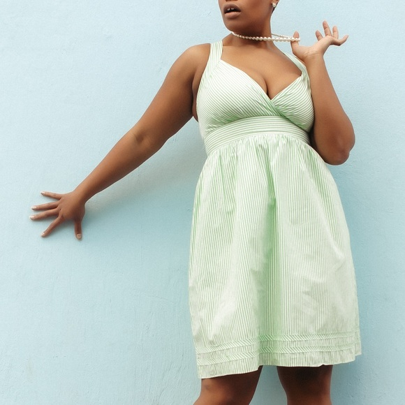 A.P.N.Y. Dresses & Skirts - Green Striped Summer Dress